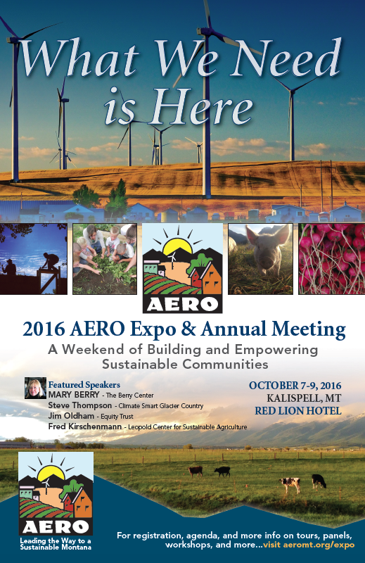What WE Need Is Here AERO expo 2016