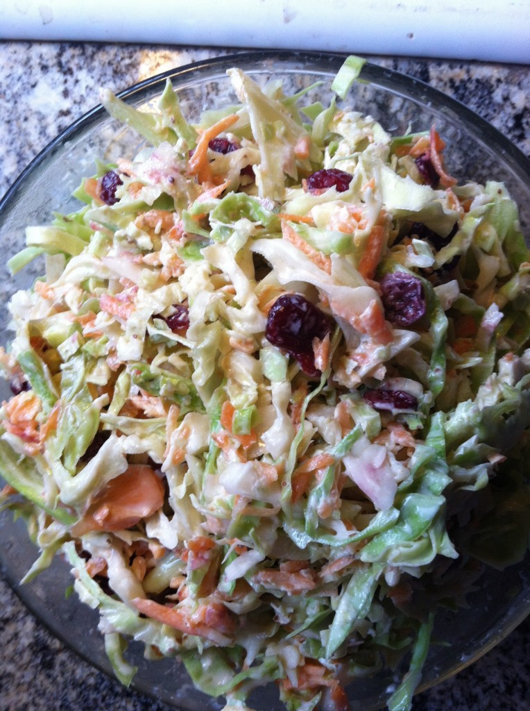 Homemade organic Cole slaw