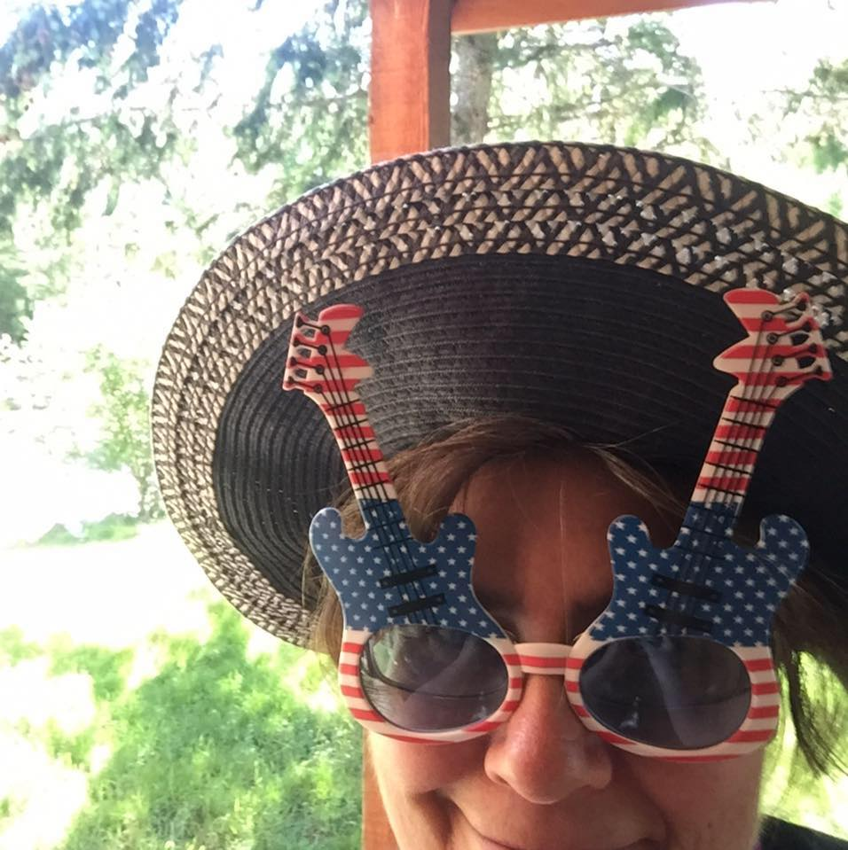 Jackie Marie Beyer Fourth of July Glasses