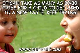 20 tries for a child to taste