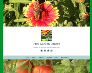 free garden course.com website page