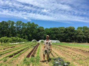 Young's Farms crops with Aiden Finney
